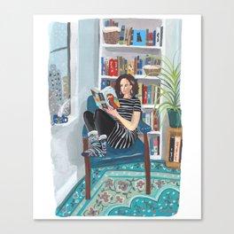 Shelfie Selfie Canvas Print