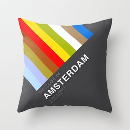Colors of Amsterdam Throw Pillow