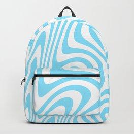 Cyan Squiggles Backpack