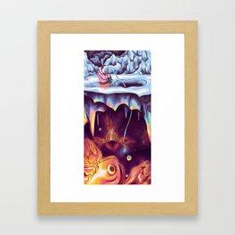 Fire Fishing Framed Art Print
