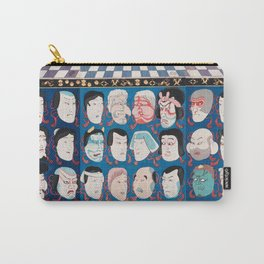 Utagawa Kuniyoshi - A Votive Tablet With Masks Of Kabuki Actors At Face Value Carry-All Pouch