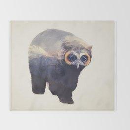 Owlbear in Mountains Throw Blanket