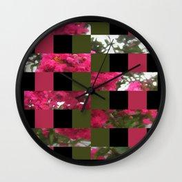 Crape Myrtle Art Rectangles 15 Wall Clock