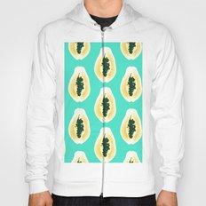 papaya pattern yellow blue Hoody