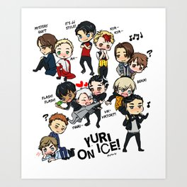 Yuri On Ice - Full Chibi Team! Art Print