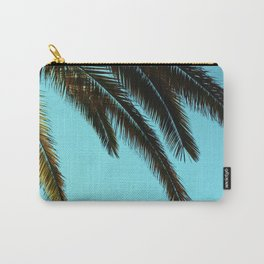 High-Contrast Palm Fronds Carry-All Pouch