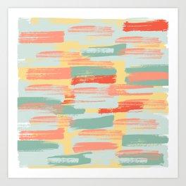 Summer Cheer   Light & Bright Paint Swatches Art Print