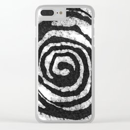spiral 05 Clear iPhone Case