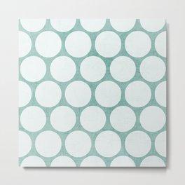 robins egg blue and white polka dots Metal Print