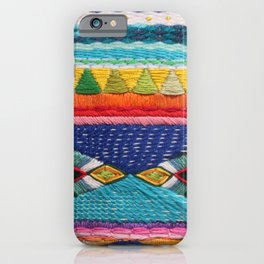 Rainbow Tribal Embroidery iPhone Case