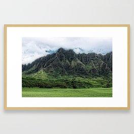 Kahaluu Mountains Framed Art Print