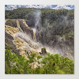 Roaring water at Barron Falls Canvas Print