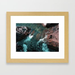Icelandic waters Framed Art Print
