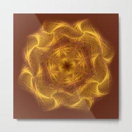 Spiritual art - Wheel of dharma Metal Print