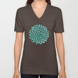 Teal Ice Unisex V-Neck