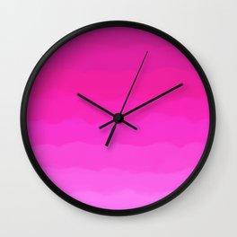Bright Hot Pink Love Wall Clock
