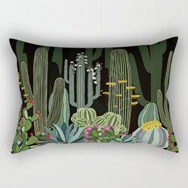 Cactus Garden at Night Rectangular Pillow