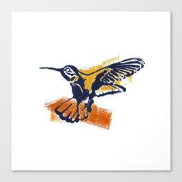 Hummingbird - Colour Canvas Print