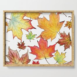 Autumn Maple Leaves Serving Tray