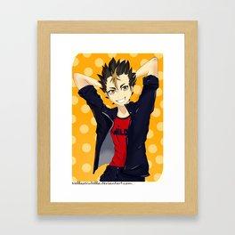 Haikyuu!!: Nishinoya Framed Art Print