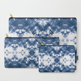 Shibori Tie Dye 4 Indigo Blue Carry-All Pouch