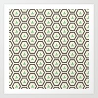 honeycomb Art Prints featuring Honeycomb by Tayler Willcox