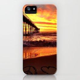 "Hermosa Beach ""Peace & Love"" iPhone Case"