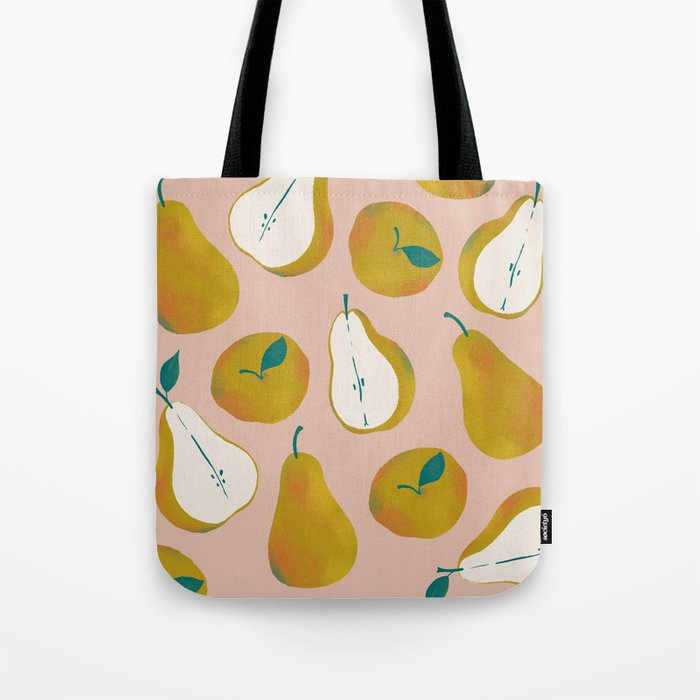 Pear Pattern Tote Bag