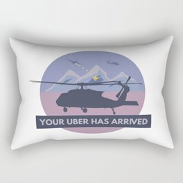 Black Hawk UH-60 Military Helicopter Pilot Rectangular Pillow