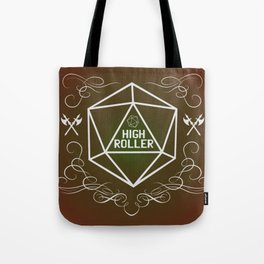 Dungeons and Dragons Tabletop Gaming RPG High Roller Funny Dice Tote Bag