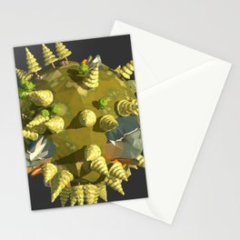 Low Poly Earth 4 Stationery Cards