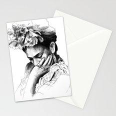 Frida Kahlo - pencil portrait Stationery Cards