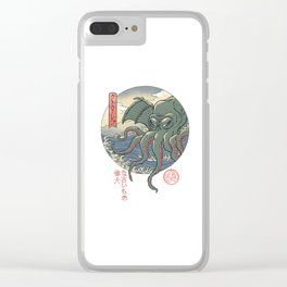 Cthulhu Ukiyo-e Clear iPhone Case