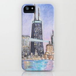 John Hancock Watercolor Painting iPhone Case