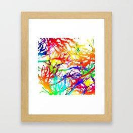 Tickled - white Framed Art Print