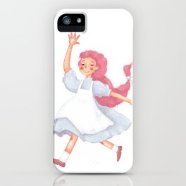 Little pink girl iPhone Case