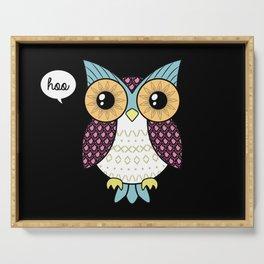 Fancy owl Serving Tray