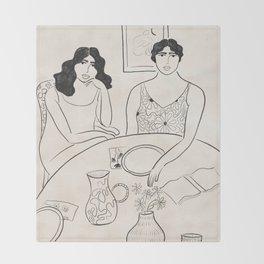 Breakfast in the 70s Throw Blanket