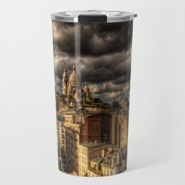 Storm over Montmartre with Sacre Coeur Travel Mug