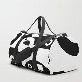 Black& White Rings Rectangle Duffle Bag