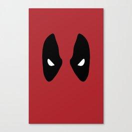 Deadpool Mask Canvas Print