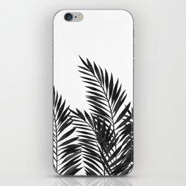 Palm Leaves Black iPhone Skin