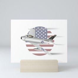 US Air Force F-86 Sabre Jet Fighter Mini Art Print