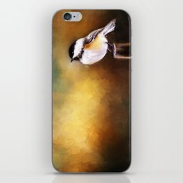 Chickadee in Morning Prayer iPhone Skin