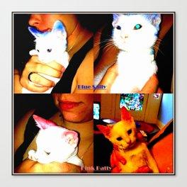 Punk Kitty/Blue Kitty Canvas Print