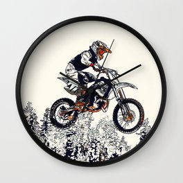 """High Flyer"" Motocross Racer Wall Clock"
