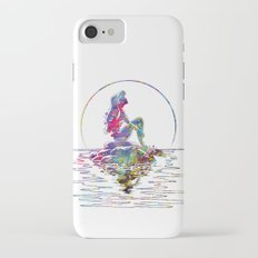 The Little Mermaid Ariel Silhouette Watercolor iPhone 7 Slim Case