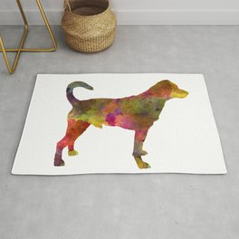 Danish swedish farmdog 01 in watercolor Rug