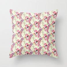 Paper Cut Birds [light] Throw Pillow