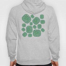 Green Cushion Gem Pattern Hoody